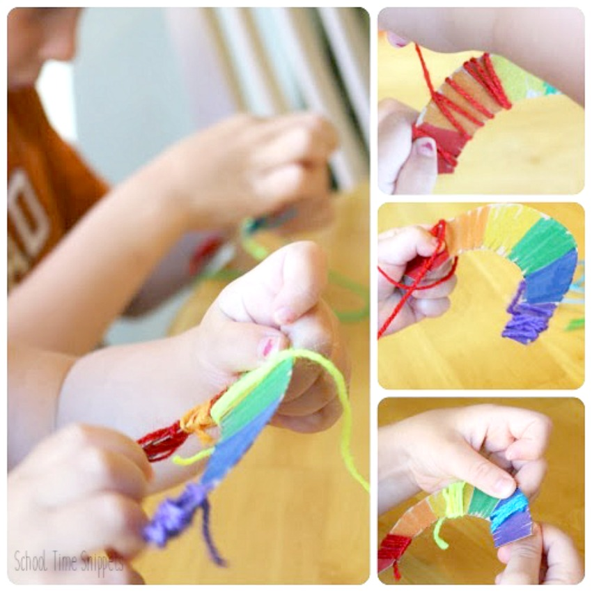 easy rainbow art and craft