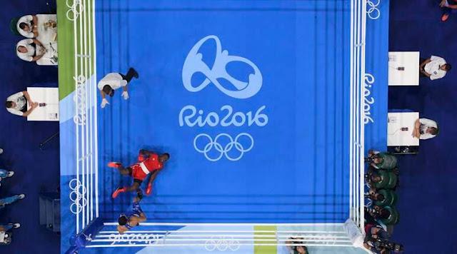 Ringue do boxe na Olimpíada