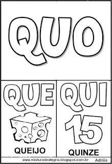 Cartaz das famílias silábicas do Q