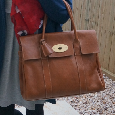 Mulberry Bayswater in Oak NVT leather | away from the blue