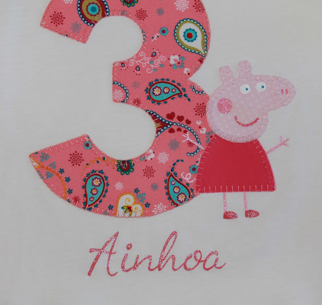 camiseta de cumpleaños peppa pig 3 años