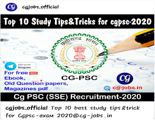 Cgpsc exam tips by cg-jobs.in