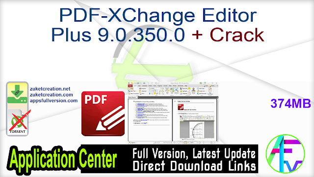 PDF-XChange Editor Plus 9.0.350.0 + Crack