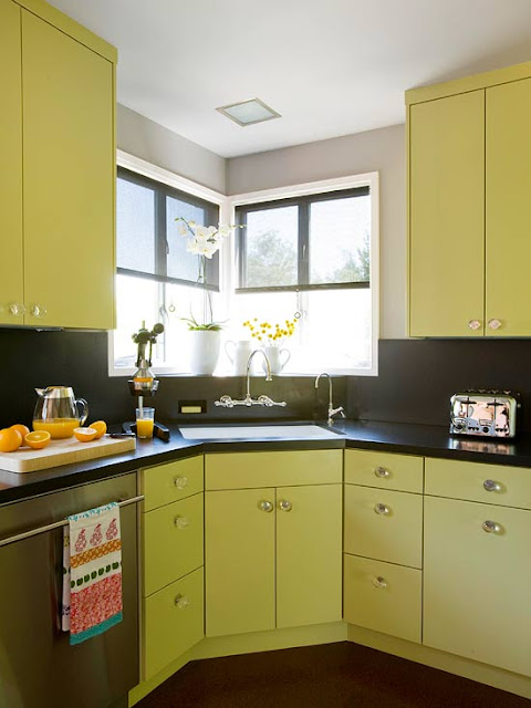 Modern Furniture Green Kitchen Design New Ideas 2012