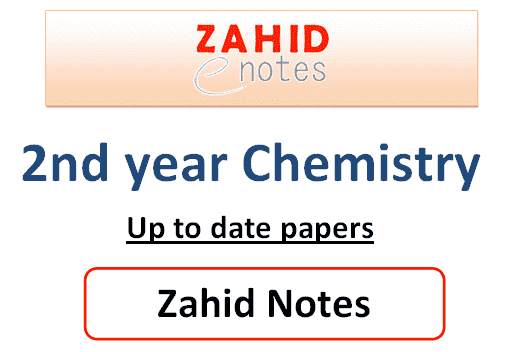 2nd year chemistry past paper mcqs, short and long questions pdf