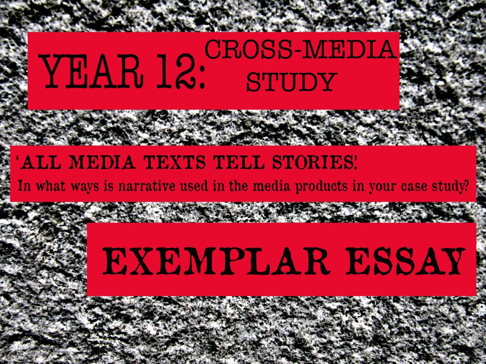 fishymedia resources for a as media studies year cross  year 12 cross media study exemplar essay