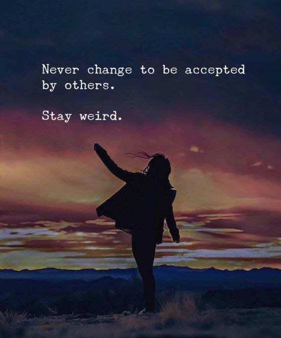 Do you read quotes and words to stay motivated?  You are in the right place if you love quotes and read then on a daily basis to start motivated. In this post, I have shared 35 Amazing quotes that will surely motivate and inspire you. 1) Never change to be accepted by others. Stay weird. 2) If someone makes you happy, make them happier. 3) Be somebody who makes everybody feel like a somebody. #inspiration, quotes inspirational #winspira