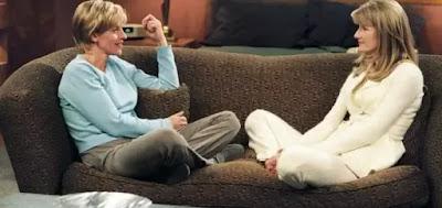 Ellen DeGeneres (à esq.) e Laura Dern