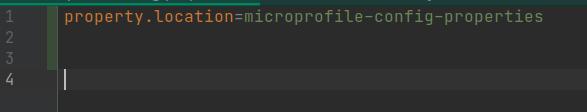 MicroProfile property