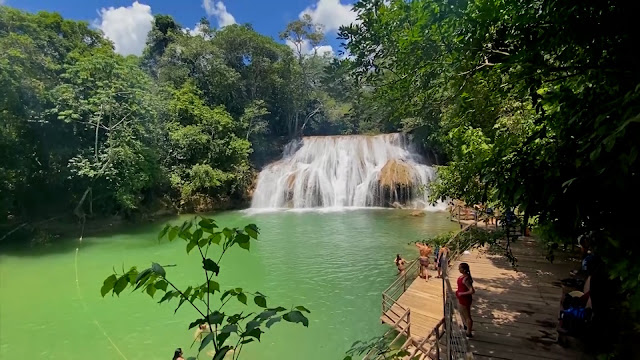 Cachoeiras Serra da Bodoquena - Bodoquena MS [Foto: Programa Tudo de Bom SBT Maranhão]