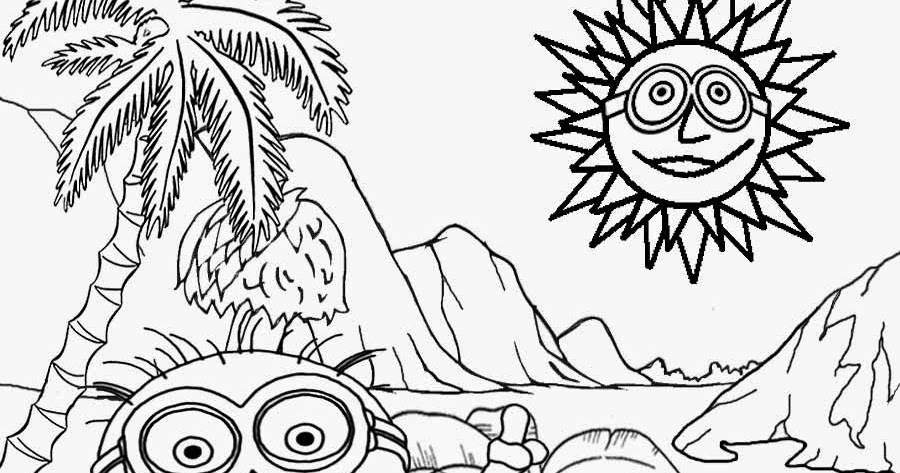LETS COLORING BOOK Kids Costume Minion Coloring Pages Banana Drawing Free Activities