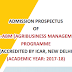 MBA Agribusiness Management-Admission | Notification Anand Agricultural University