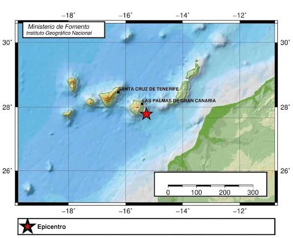 Terremoto sureste de Gran Canaria, 15 agosto 2020
