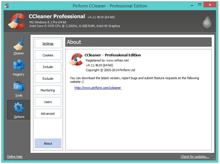 download ccleaner piriform gratis