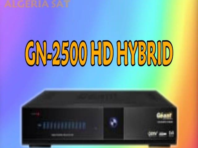 اخر تحديث لجهاز جيون GN-2500 HD HYBRID اصدار 2.56