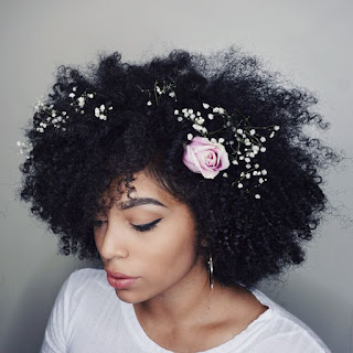 K'Mich Weddings - wedding planning - floral crown - curly hair with flowers