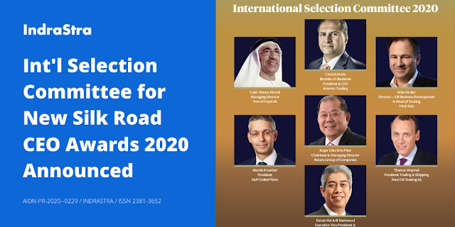 International Selection Committee for New Silk Road CEO Awards 2020 Announced
