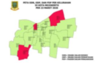 Aneh, Pemkot Belum Rilis Sudah Beredar Peta Sebaran Covid-19 di Kota Mojokerto, 3 Warga Dinyatakan PDP
