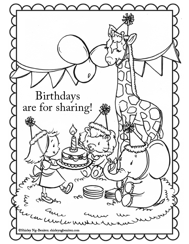 coloring pages for august - photo#10