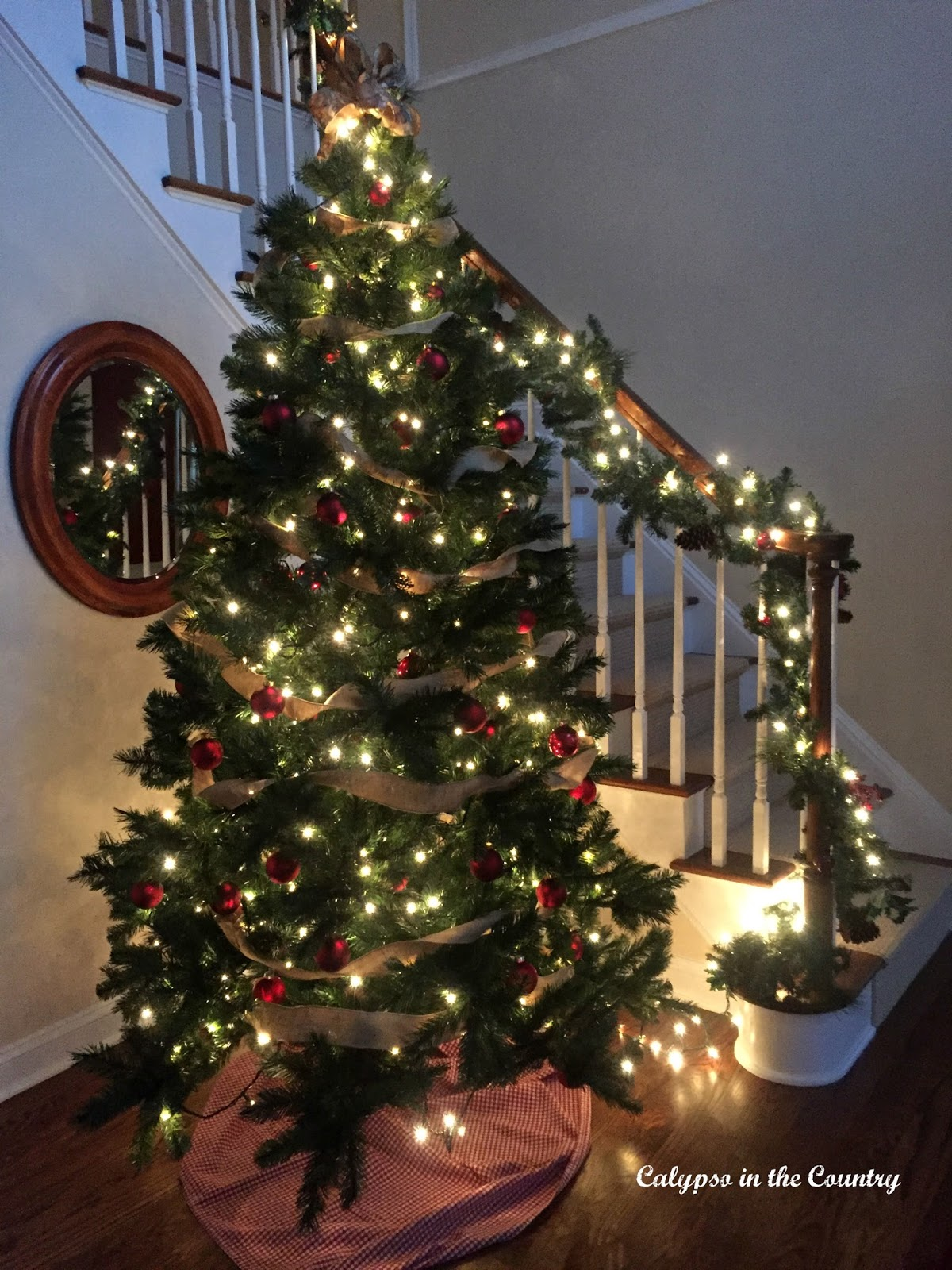 White Lights on Foyer Tree