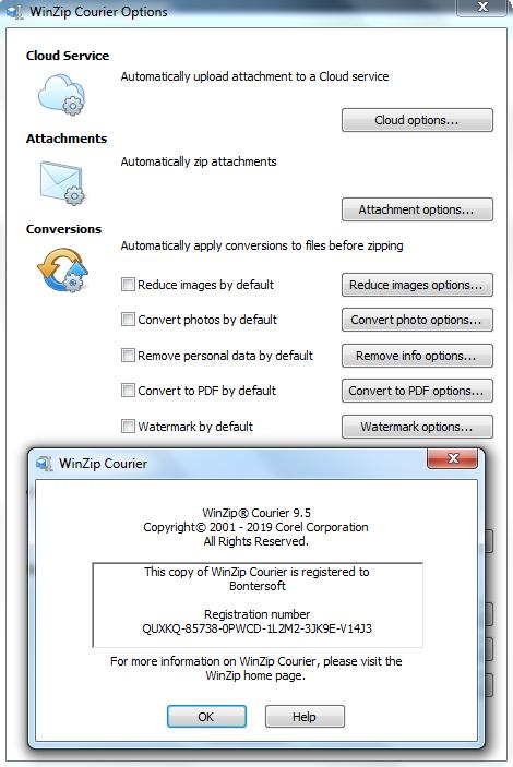 Screenshot WinZip Courier 9.5 Full Version