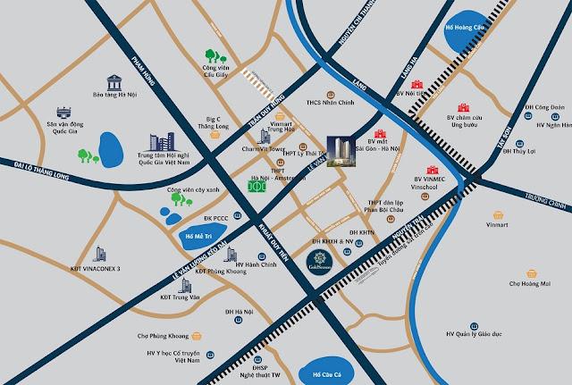 Vị trí chung cư Hà Nội Center Point