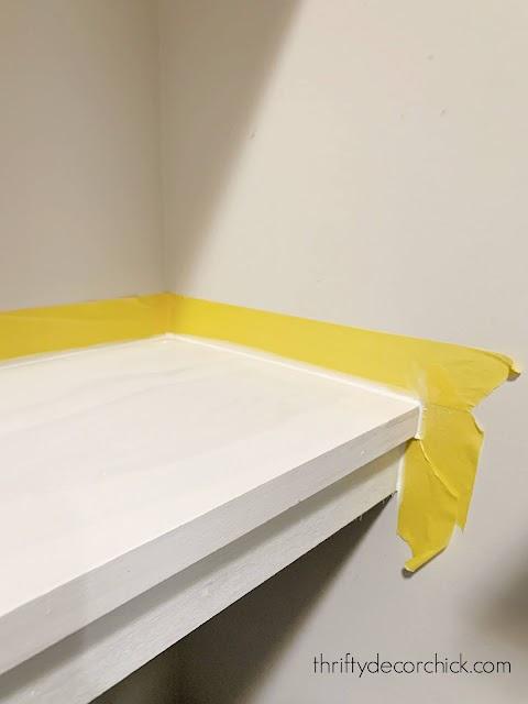 using painters tape when caulking