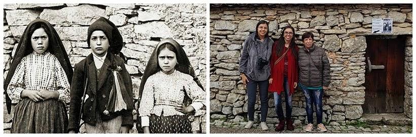 Foto clássica onde os 3 pastorinhos também posaram ainda criança lá na vilinha de Aljustrel, Fátima