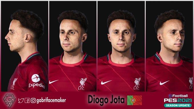 Diogo Jota Face 2021 For eFootball PES 2021
