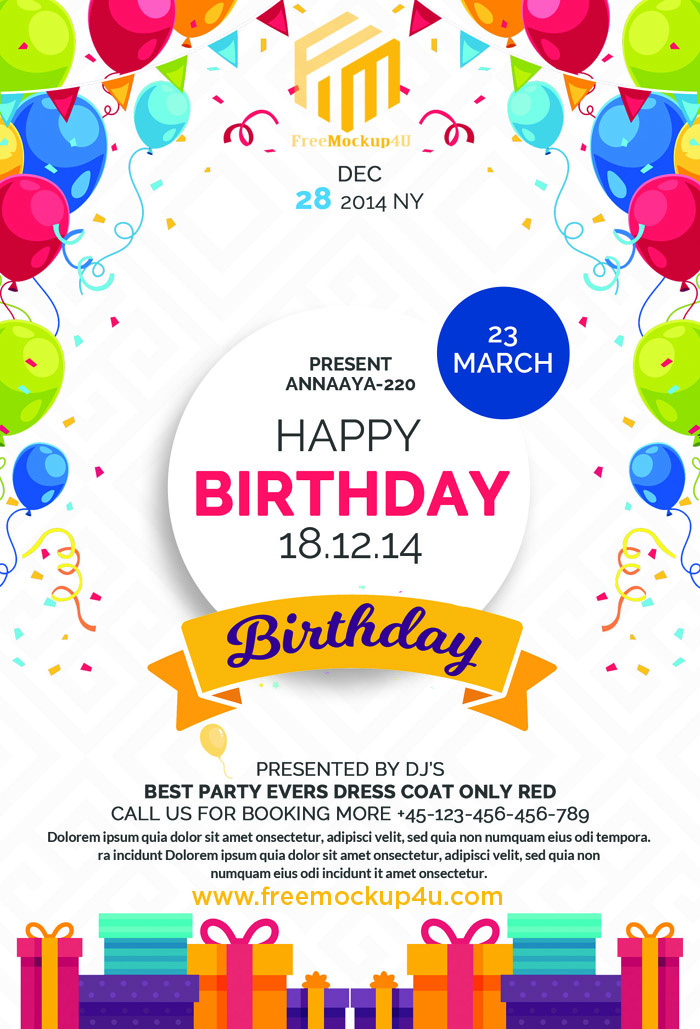 Happy Birthday Flyer Template Free Download