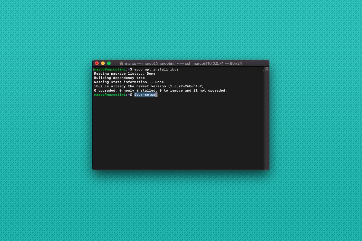Come cambiare inserimento tastiera in italiano su Ubuntu