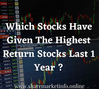 Which Stocks Given The Highest Return Stocks Last 1 Year ?
