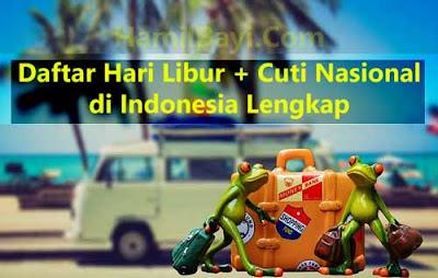 Daftar Hari Libur & Cuti Bersama Nasional di Indonesia 2017 Lengkap