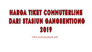 Harga Tiket Commuterline Dari Stasiun Gangsentiong Terbaru 2019