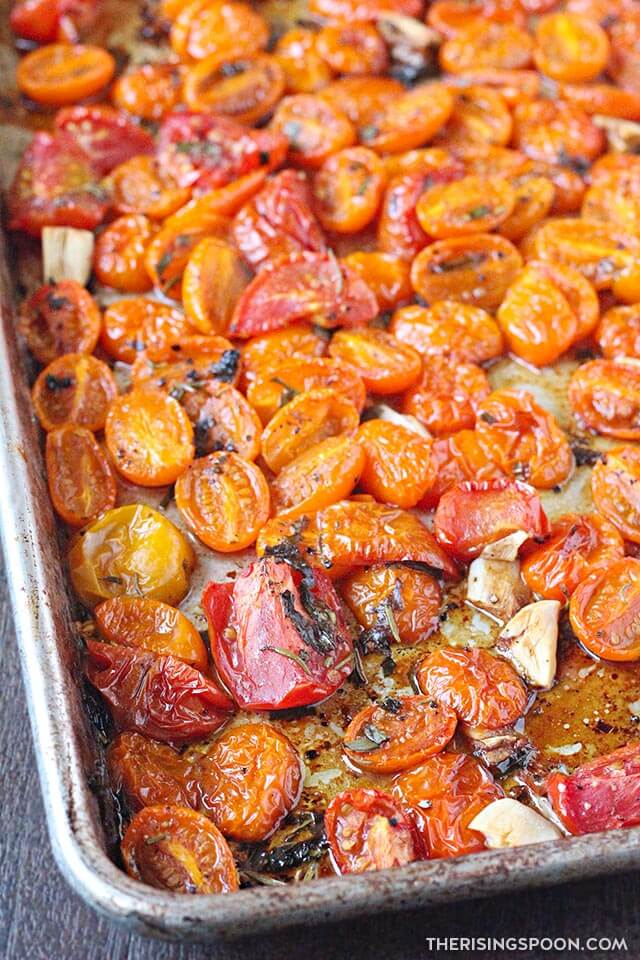 Roasted Tomatoes with Herbs & Garlic