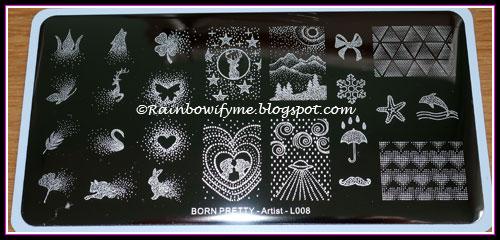 Born Pretty stamping plate Artist L008