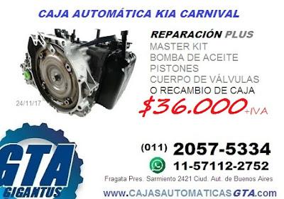 VENTA Y REPARACION DE CAJA AUTOMATICA KIA CARNIVAL