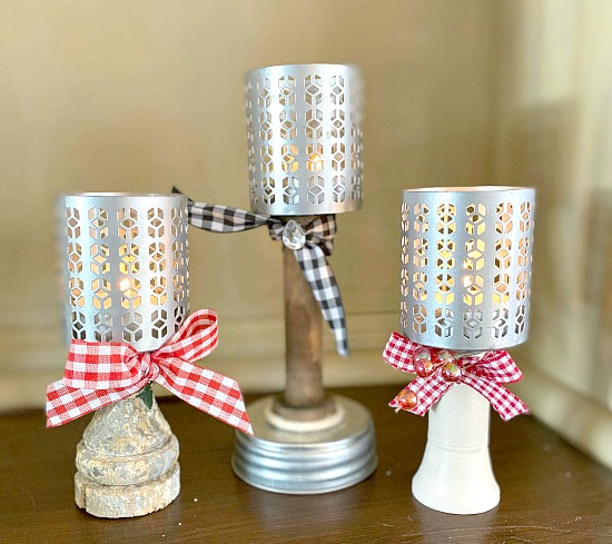 DIY Repurposed Pedestal Tea Light Candles