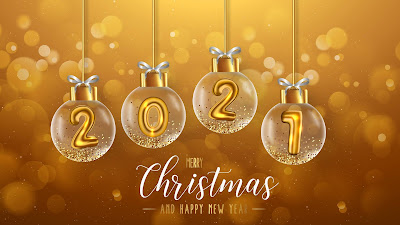 Beautiful golden christmas background 2021