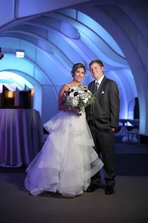 romantic ceremony at the Adler Planetarium