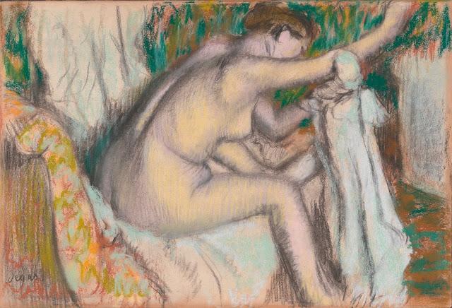 Эдгар Дега - Женщина, вытирающая руку (конец 1880-х - начало 90-х)
