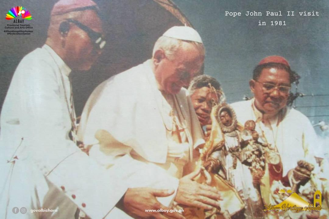 Holy Mass by Pope John Paul the Second at The Cathedral Parish of St. Gregory the Great, popularly known as Albay Cathedral, is a Roman Catholic cathedral in Legazpi City, Albay