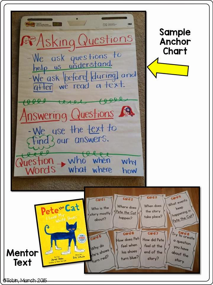 ask and answer activities for students- reading comprehension- common core aligned assignments