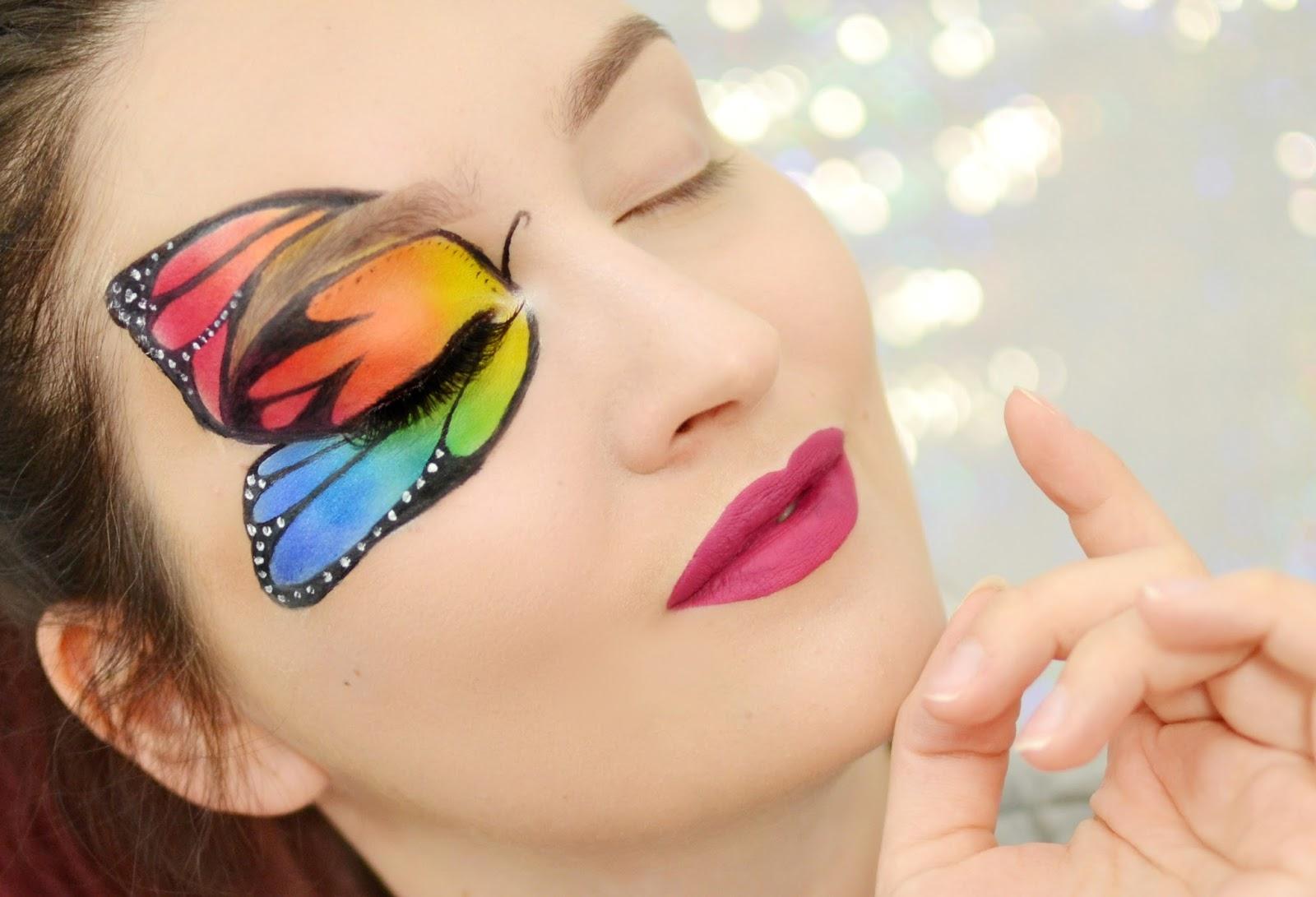 tutorial makijaż motyl