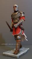 statuetta cavaliere rievocazioni storiche modellino uomo con spada e armatura ricostruzione rievocazione storica orme magiche