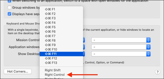 تغيير اختصار لوحة المفاتيح لميزة إظهار سطح المكتب