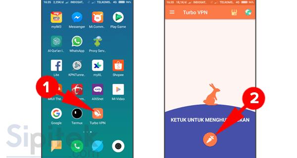 Membuka situs yang diblokir di Android menggunakan Turbo VPN