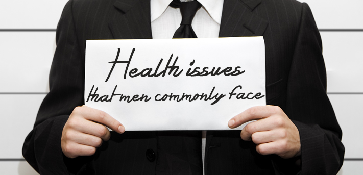 Health issues that men commonly face