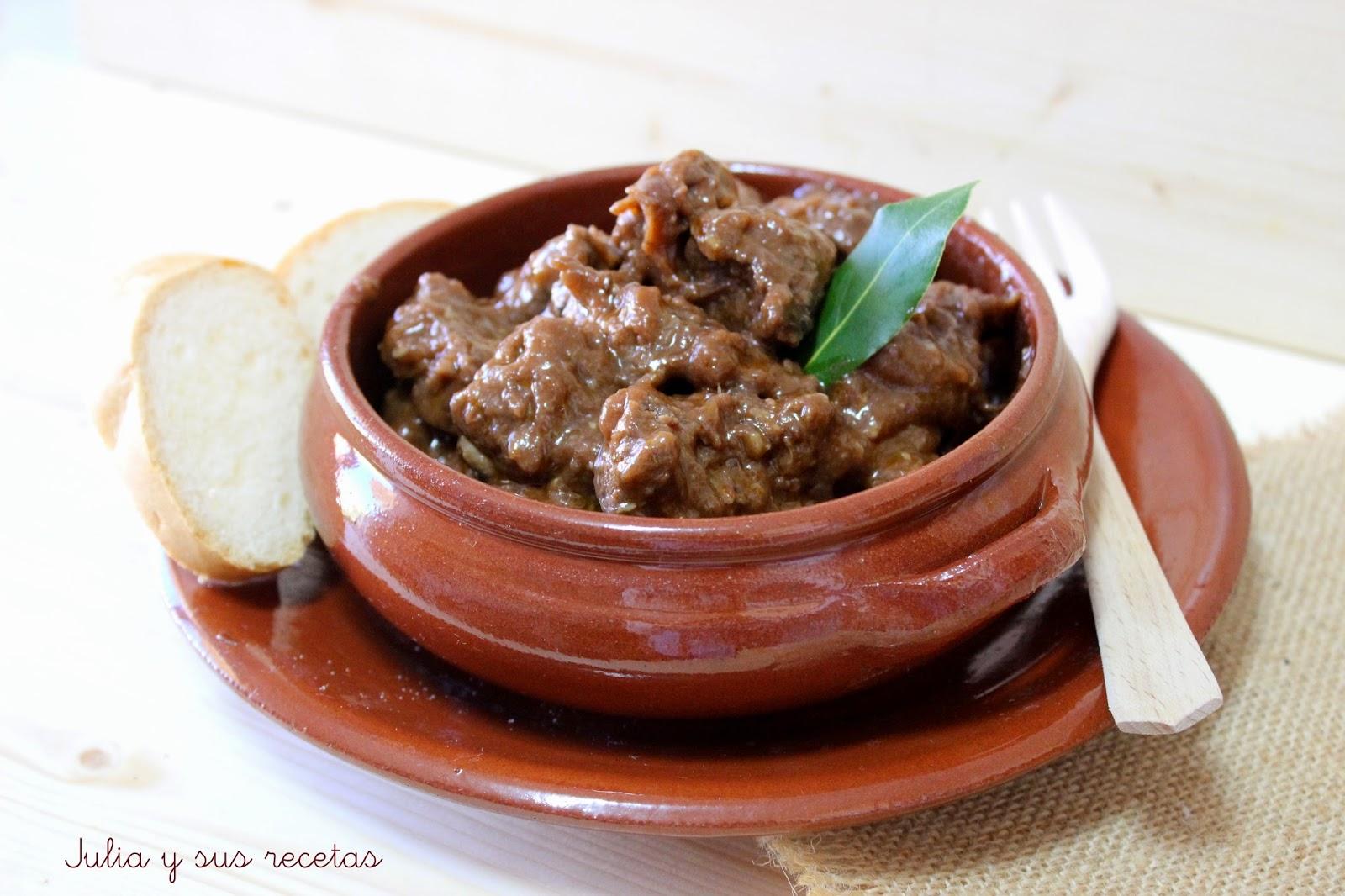 Carne de ciervo estilo El Hoyo. Julia y sus recetas
