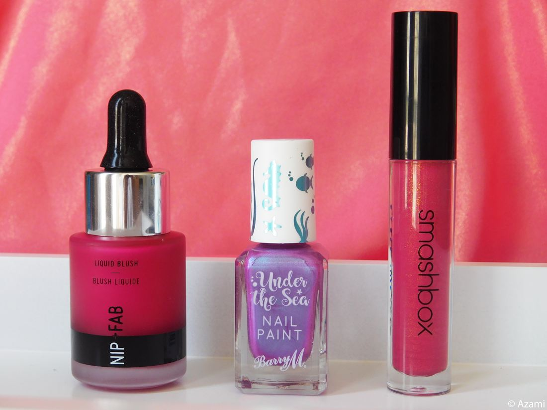 3 Makeup Gems Straight Off Feelunique | Nip + Fab Liquid Blush Berry Bomb Review Swatches Avis - Smashbox Gloss Angeles Traffic Jam - Barry M Under The Sea Nail Pail Dragonfish - London & Paris Makeup Artist & Blogger - Blogueuse Beauté